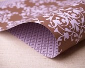 2 Sheets of Double-Sided Gift Wrap - Arabesque Pattern