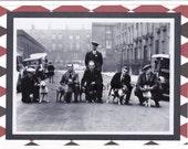 Retro Handmade Greeting Card - 1930s Staffordshire Terriers