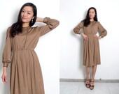 Café Lucienne - Vintage Puff Sleeve Dress w/ Tassels - XS / S