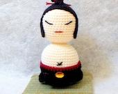 Amigurumi Kokeshi pattern - Sumo Master - Crochet Kokeshi doll tutorial  PDF