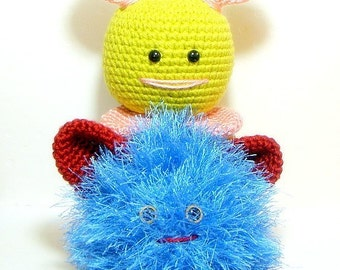 Crochet Amigurumi patterns - O Chi Monster Buddies - 2 Amigurumi monster doll tutorial PDF