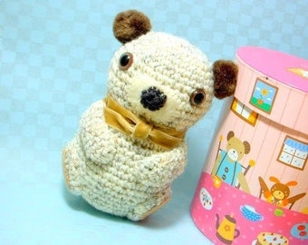 Pom Pom Ears Bear - Amigurumi animal toy pattern / PDF