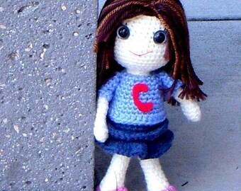 Cheri - Crochet Amigurumi girl doll pattern / PDF