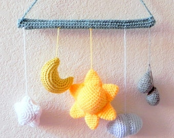 Amigurumi pattern - From the sky -  crochet amigurumi Mobile tutorial PDF