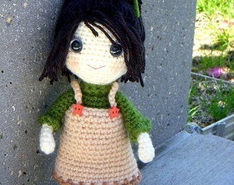 Amigurumi crocheted girl doll pattern / PDF - Yumi
