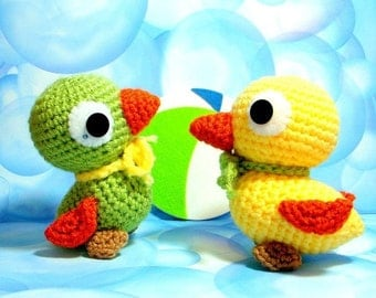 Crochet Amigurumi animal toy pattern / PDF - Darling duckling