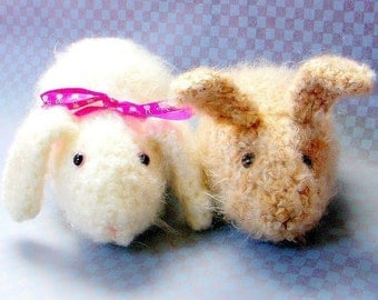 House Rabbits - 2 Crochet Amigurumi animal patterns / PDF