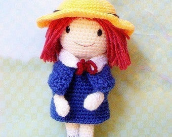 Amigurumi pattern - Madeline - Crochet amigurumi girl doll tutorial PDF