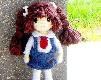 Nari -  Amigurumi girl doll pattern / PDF - crochet amigurumi