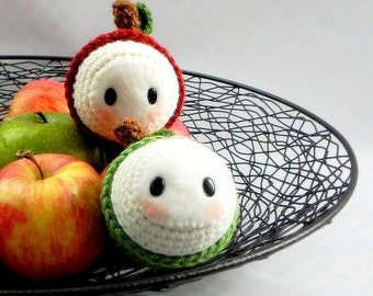 Crochet Amigurumi pattern - Apple Baby - crochet doll toy tutorial PDF