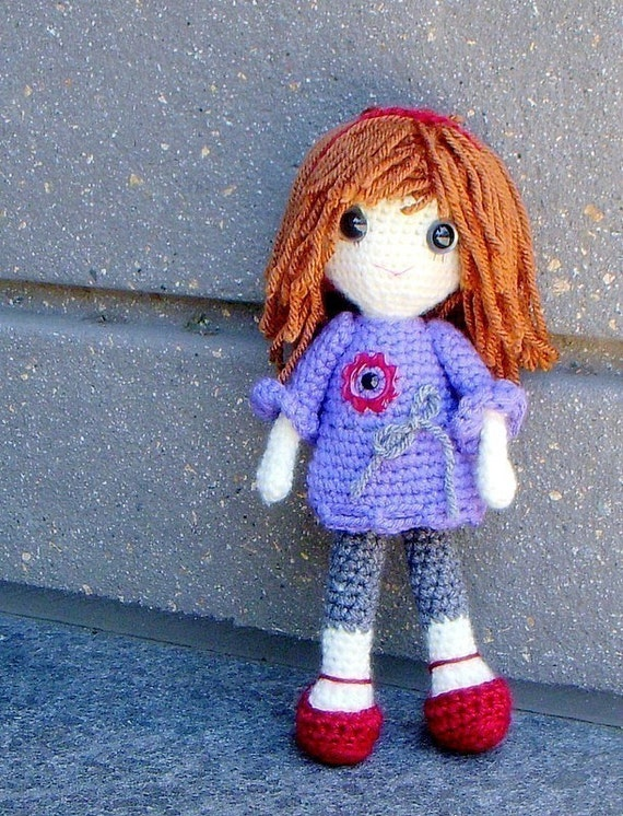 Vikki Crochet Amigurumi girl doll pattern / PDF by TGLDdoll