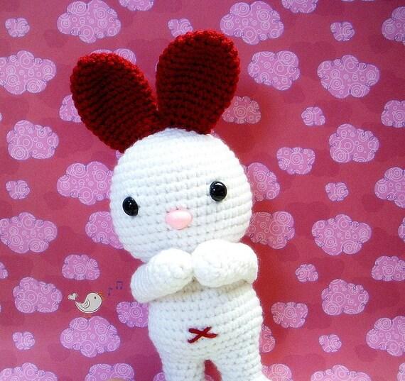 Amigurumi Bunny Ears : Amigurumi pattern LOVE Ears Bunny Crochet Amigurumi animal