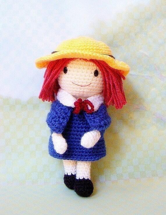 Madeline Amigurumi pattern - Crochet amigurumi girl doll tutorial PDF