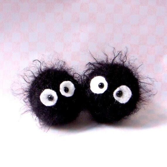 Amigurumi pattern - Dust Bunnies - 2  versions Crochet  tutorial PDF