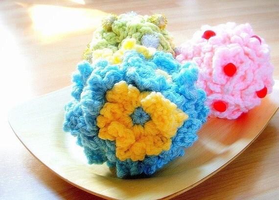 Crochet Decorative Flower Balls 3 Crochet flowers patterns