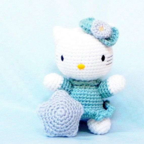 Wishing Star kitty - Amigurumi kitty pattern crochet toy doll tutorial PDF - crochet amigurumi