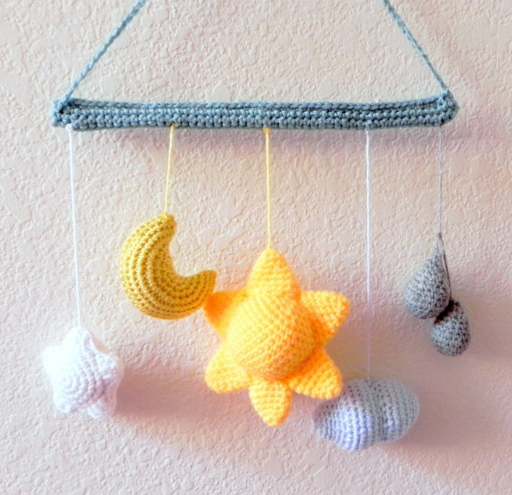 Amigurumi Moon Pattern : Amigurumi pattern From the sky crochet amigurumi Mobile