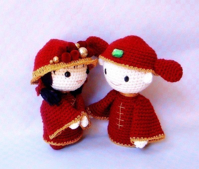 Crochet Pattern Amigurumi Cat : Amigurumi pattern Chinese Wedding 2 Crochet Amigurumi doll