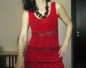Boutique crochet dress