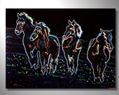 Free US Shipping - Wild Bunch by Bryan Dubreuiel - Original Painting - 18 by 24