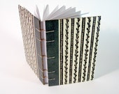 Vintage Book Journal / Sketchbook - Stripes and Vines