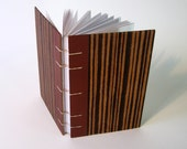 Vintage Book Journal / Sketchbook - Mocha Stripes