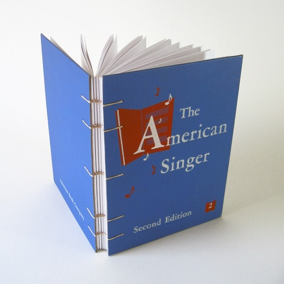 Vintage Book Journal / Sketchbook - The American Singer