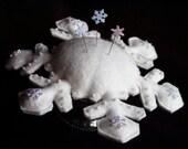 Snowflake Pincushion PATTERN Tutorial Instant Digital Download PDF epattern by Happy Valley Primitives