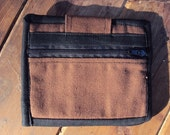 Unisex Brown Canvas Wallet