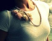 SALE//////Petunia Ribbon Necklace