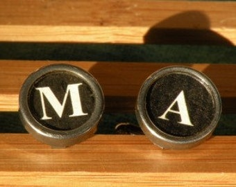 M and A typewriter key cufflinks