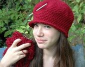 Crochet Hat Pattern - How to Crochet a Cloche Hat - A step by step detailed tutorial -Beginners crochet hat  pdf pattern