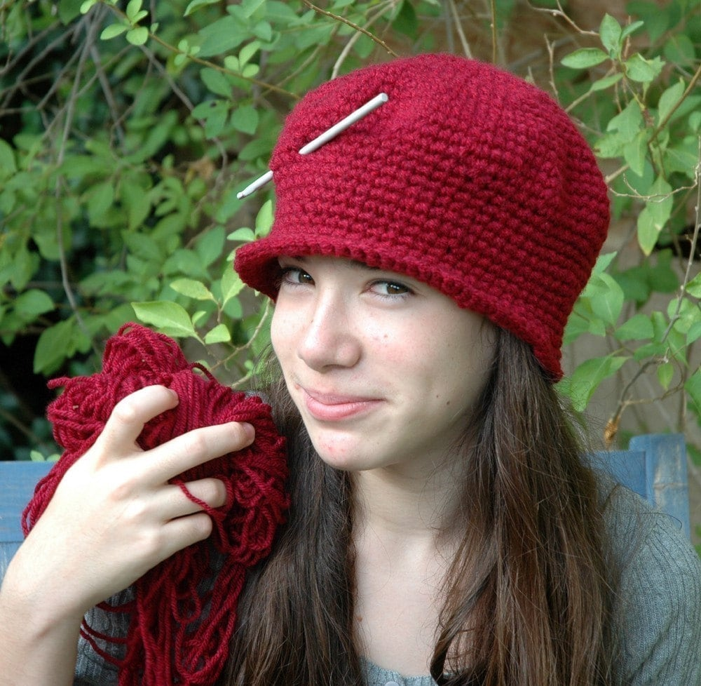 Beginner Crochet Hat Tutorial : Digital download Crochet Hat Pattern Cloche Hat Tutorial