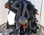 MEDUSA Costume Headpiece - The 8 Headed Serpent Hat - Made to Order by Tejidos on Etsy