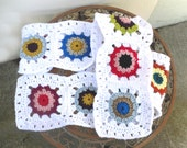 Granny Square Scarf * Super Long Neckwarmer * One of a Kind OOAK Scarf  by Tejidos on Etsy