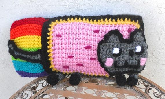 Nyan Cat Pop Tart Cat Pillow Amigurumi by Tejidos on Etsy