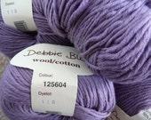 10-50g Debbie Bliss Wool/Cotton Purple Yarn Balls