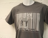 BAR CODE ZEBRA Fun Surreal Graphic TShirt Unisex S, M, L, XL, XXL available