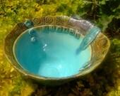 Words To Inspire  Handmade Porcelain Stoneware Bowl