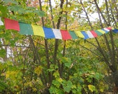 Sale - Small Tibetan Prayer Flag - String of 10 prayer flags