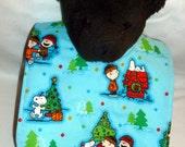 Peanuts Snoopy Christmas Baby bib Reversible