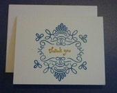GIF - Hand Stamped, Embossed, Ecofriendly, Biodegradable packaging Set of 10 Thank You Cards -