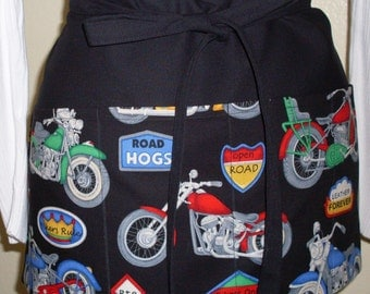 Motorcycle Vendor Server Cocktail or Garden Apron Ready to Ship