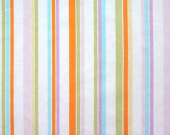 summer pastel stripes, a vintage sheet fat quarter