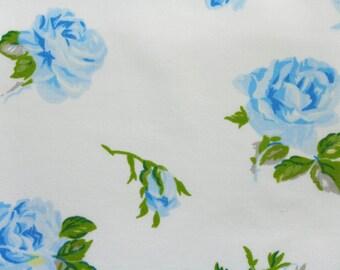 blue roses bloom, a vintage fat sheet quarter