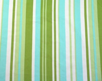 stripes in turquoise & green, a vintage sheet fat quarter