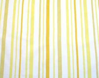 LAST ONE lemon stripes, a vintage sheet fat quarter