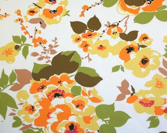 marigolds in mandarin, a vintage sheet fat quarter