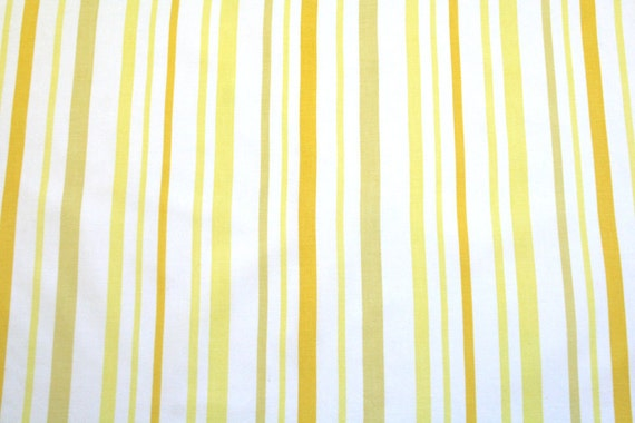 LAST ONE lemon stripes, a vintage sheet fat quarter