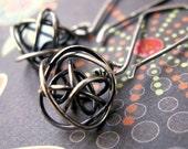 Steampunk Earrings, Sterling Silver Earrings, Tribal Earrings, Dangle Earrings, Oxidized Earrings, Gothic Earrings